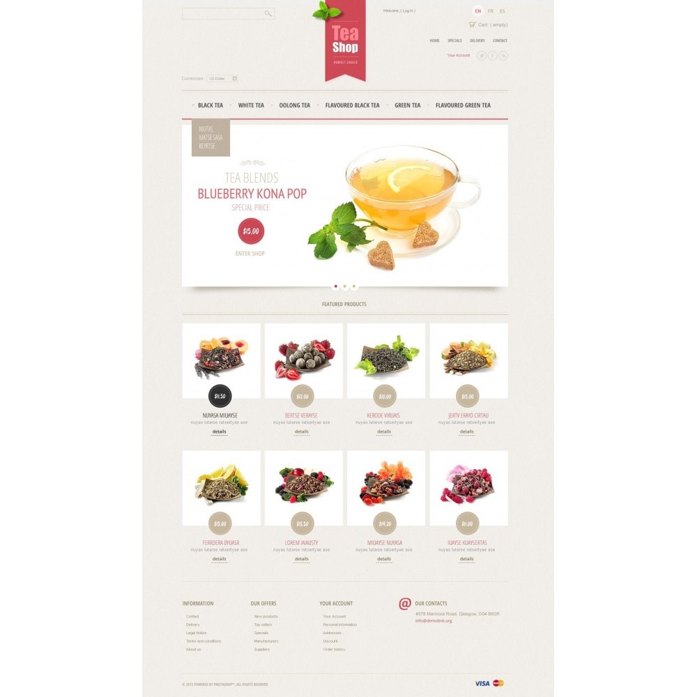 theme - Продовольствие и рестораны - Tea Shop - 5