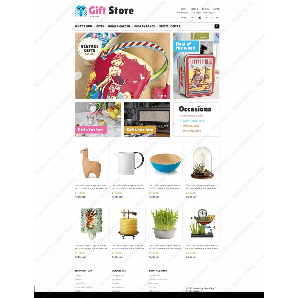 theme - Cadeaux, Fleurs et Fêtes - Gift Store - 7