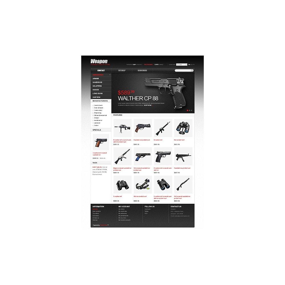 theme - Thèmes PrestaShop - Armes pour le sport et la sécurité - 1