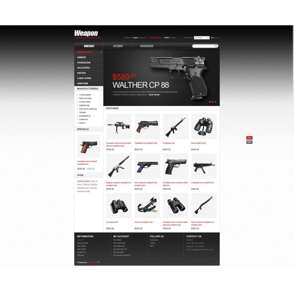 theme - Thèmes PrestaShop - Armes pour le sport et la sécurité - 3
