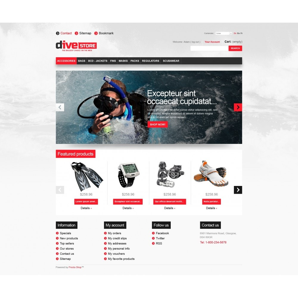 theme - Sports, Activities & Travel - Dive Store - 3