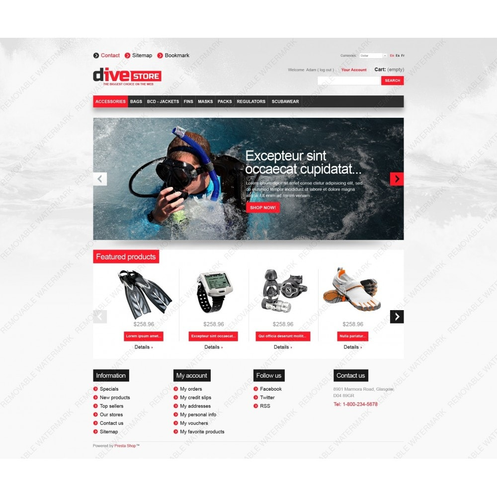 theme - Sports, Activities & Travel - Dive Store - 7