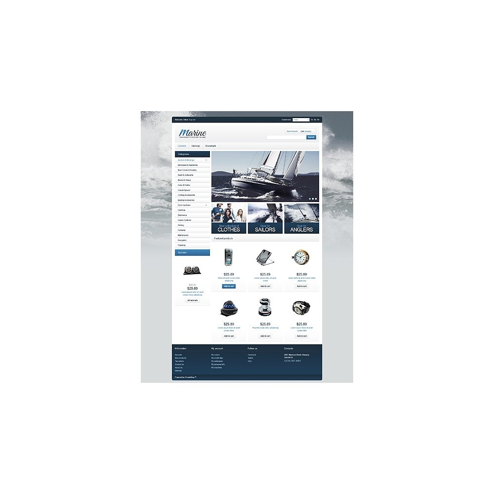 theme - Спорт и Путешествия - Marine Equipment - 1