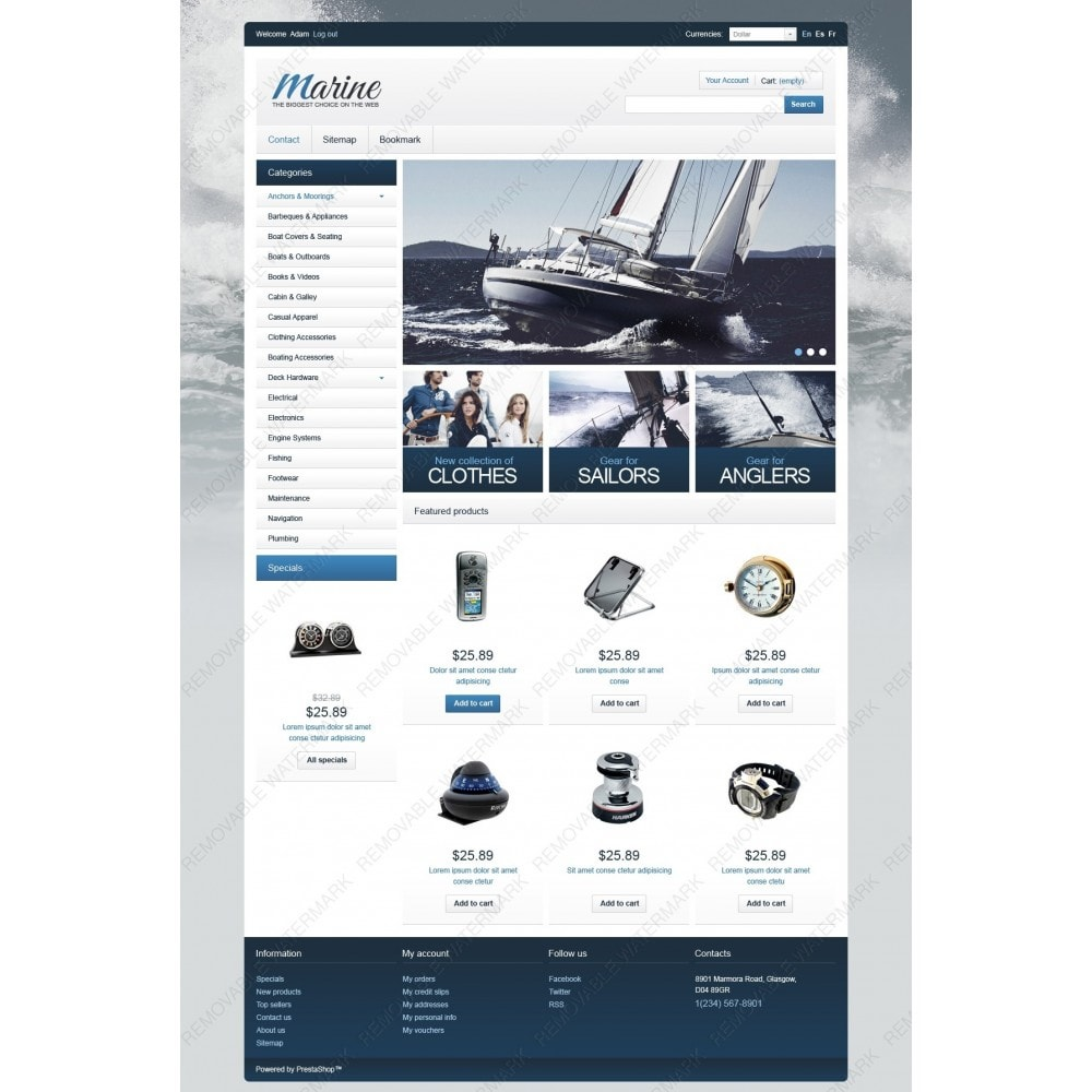 theme - Спорт и Путешествия - Marine Equipment - 2