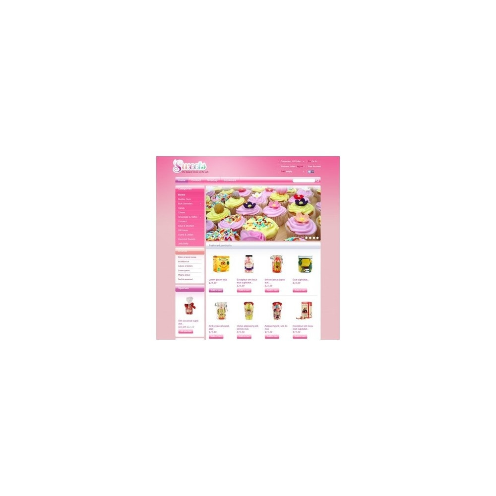 theme - Продовольствие и рестораны - Candy Shop - 4