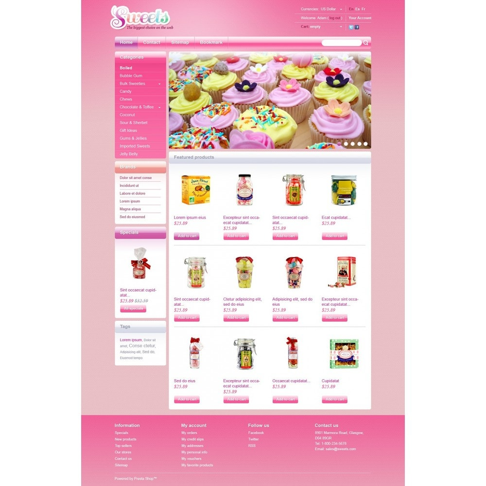 theme - Продовольствие и рестораны - Candy Shop - 5