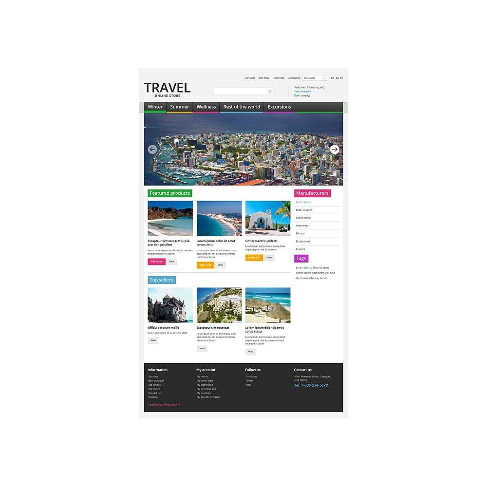 theme - Desporto, Actividades & Viagens - Travel Store - 1