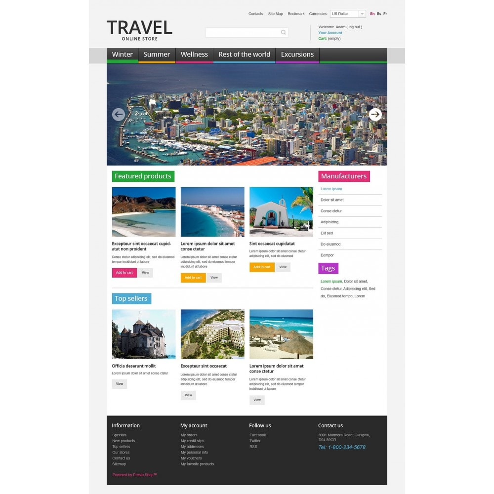 theme - Desporto, Actividades & Viagens - Travel Store - 5