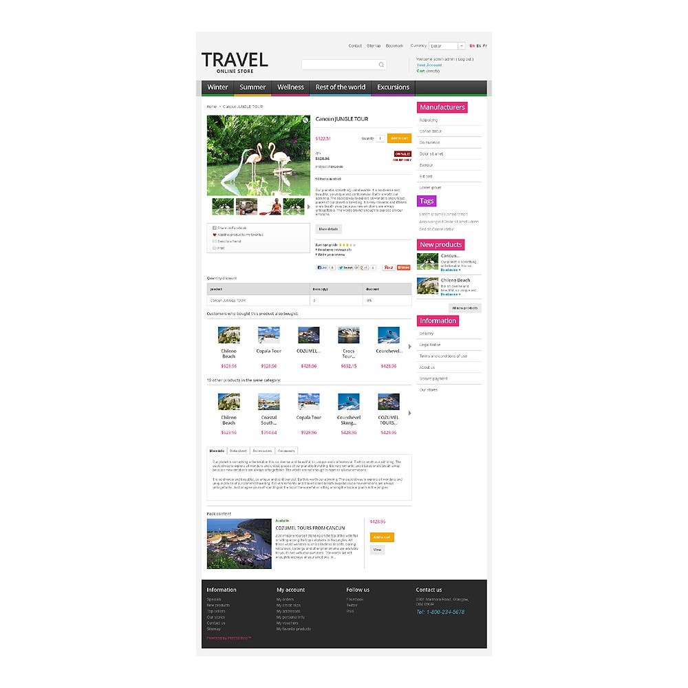 theme - Desporto, Actividades & Viagens - Travel Store - 6