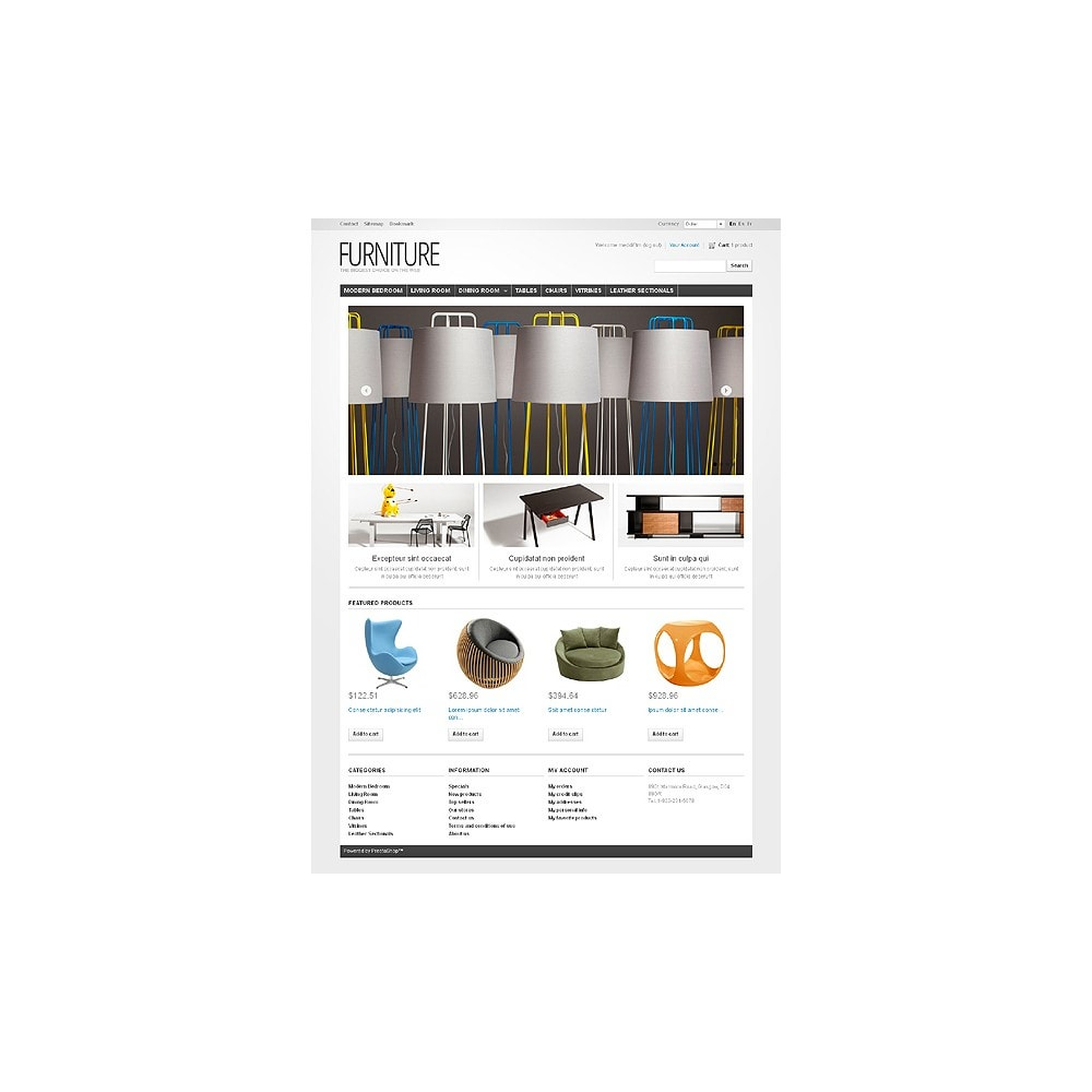 theme - Kultura & Sztuka - Furniture Creating Comfort - 1