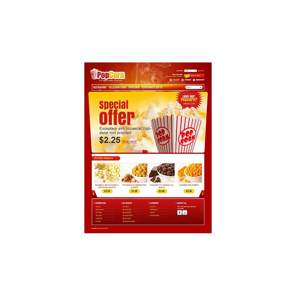 theme - Food & Restaurant - Popcorn Store - 1