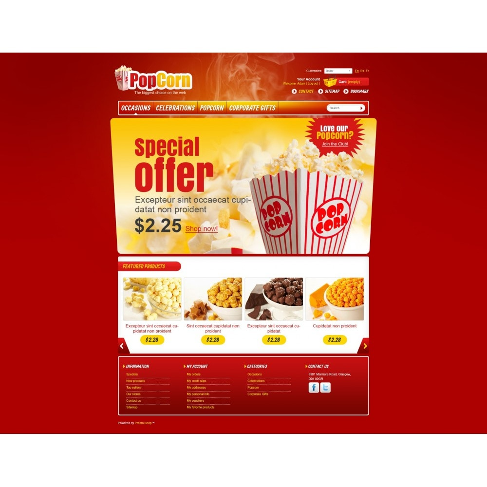 theme - Food & Restaurant - Popcorn Store - 3