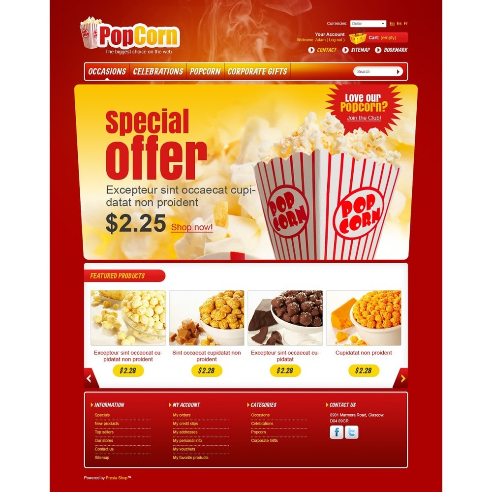 theme - Food & Restaurant - Popcorn Store - 5