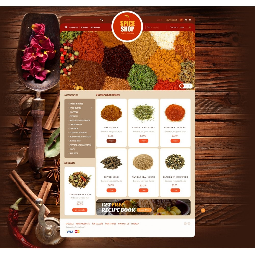 theme - Alimentos & Restaurantes - Spice Shop - 3