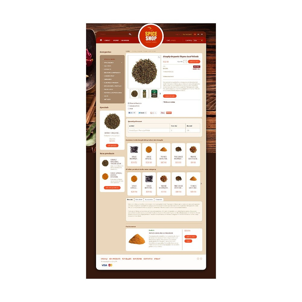 theme - Alimentos & Restaurantes - Spice Shop - 6