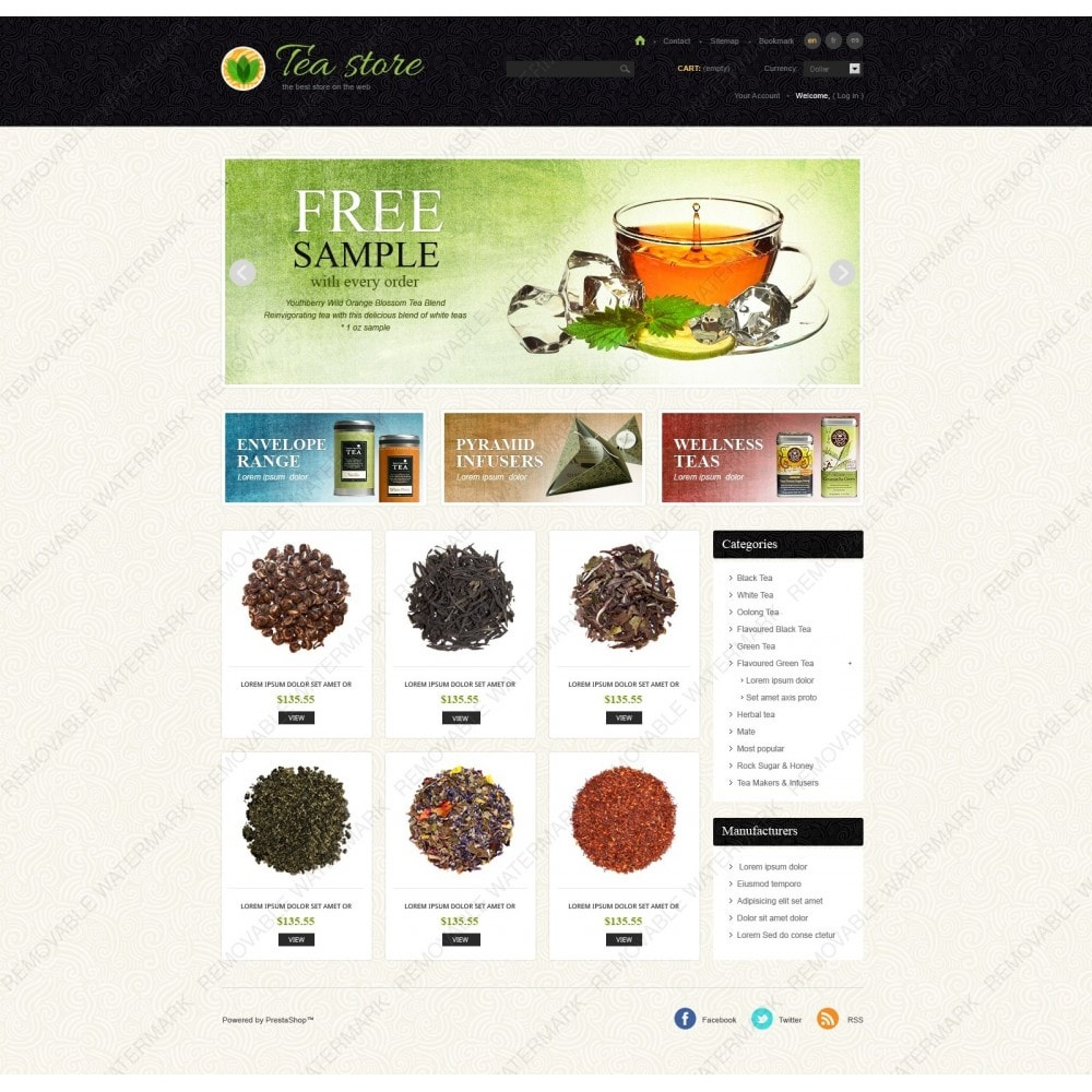 theme - Eten & Restaurant - Tea Store - 7