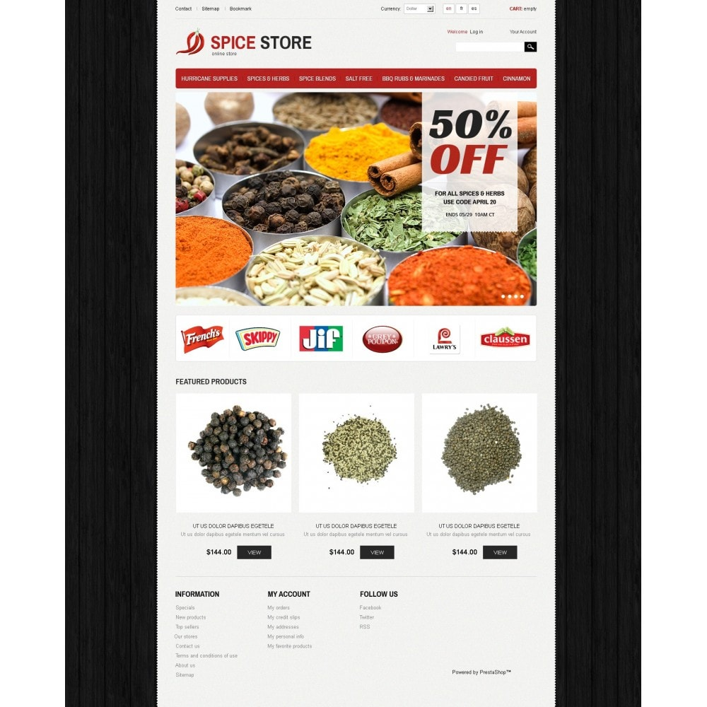 theme - Alimentation & Restauration - Spice Store - 3