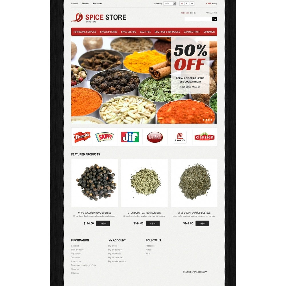 theme - Alimentation & Restauration - Spice Store - 5