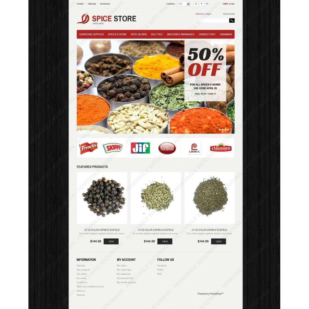 theme - Alimentation & Restauration - Spice Store - 7
