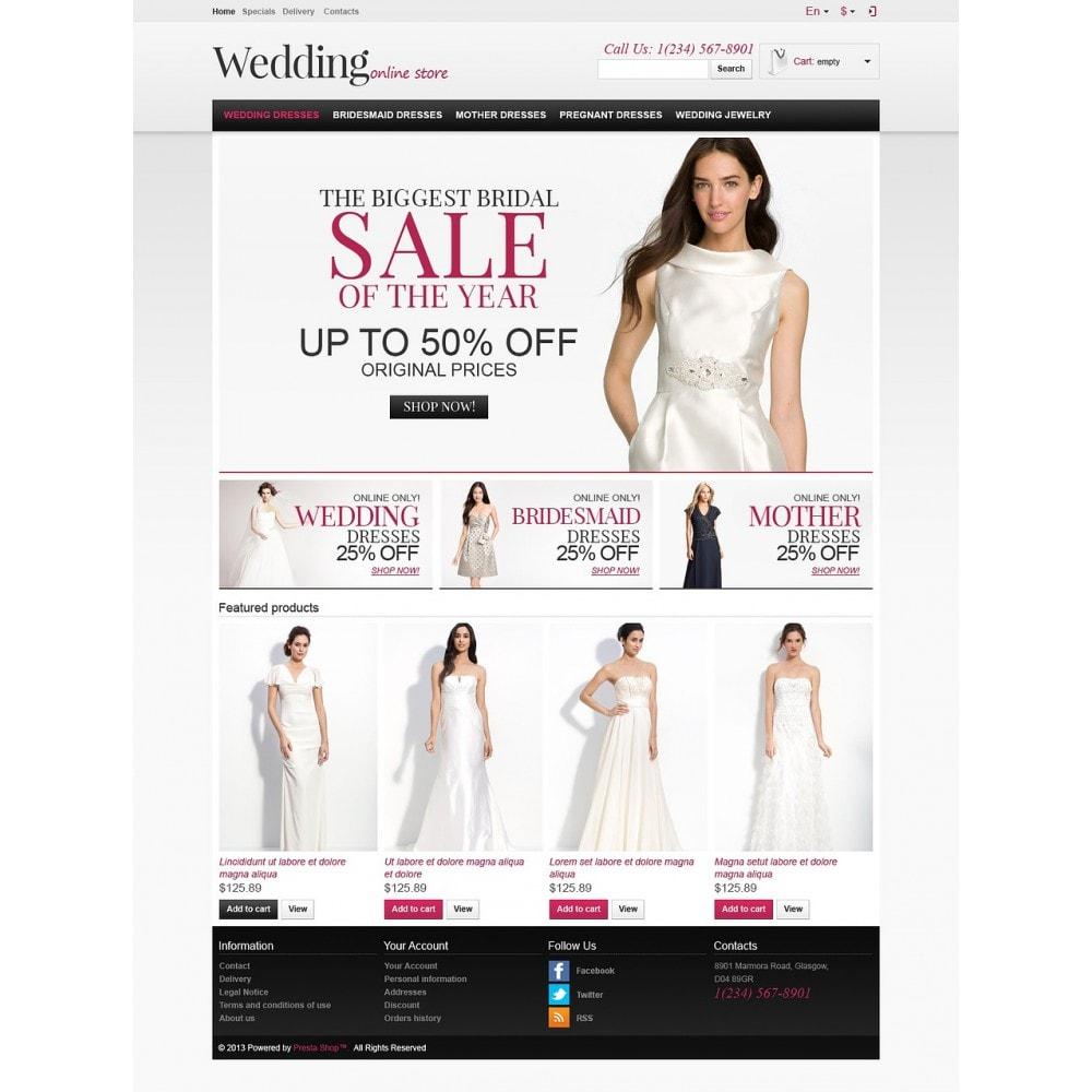 theme - Moda & Calçados - Responsive Wedding Store - 2