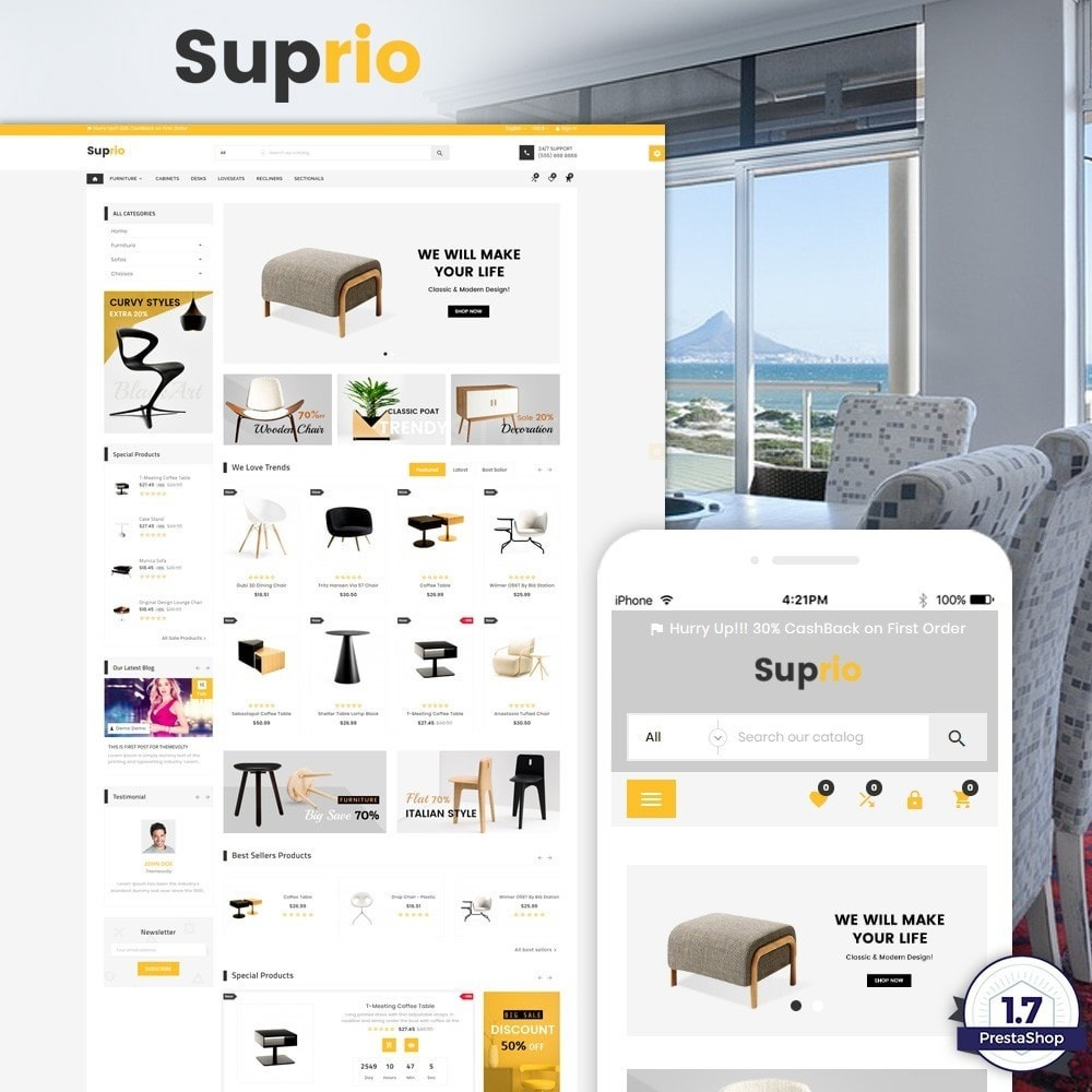 theme - Дом и сад - Suprio – Furniture Super Store v3 - 1
