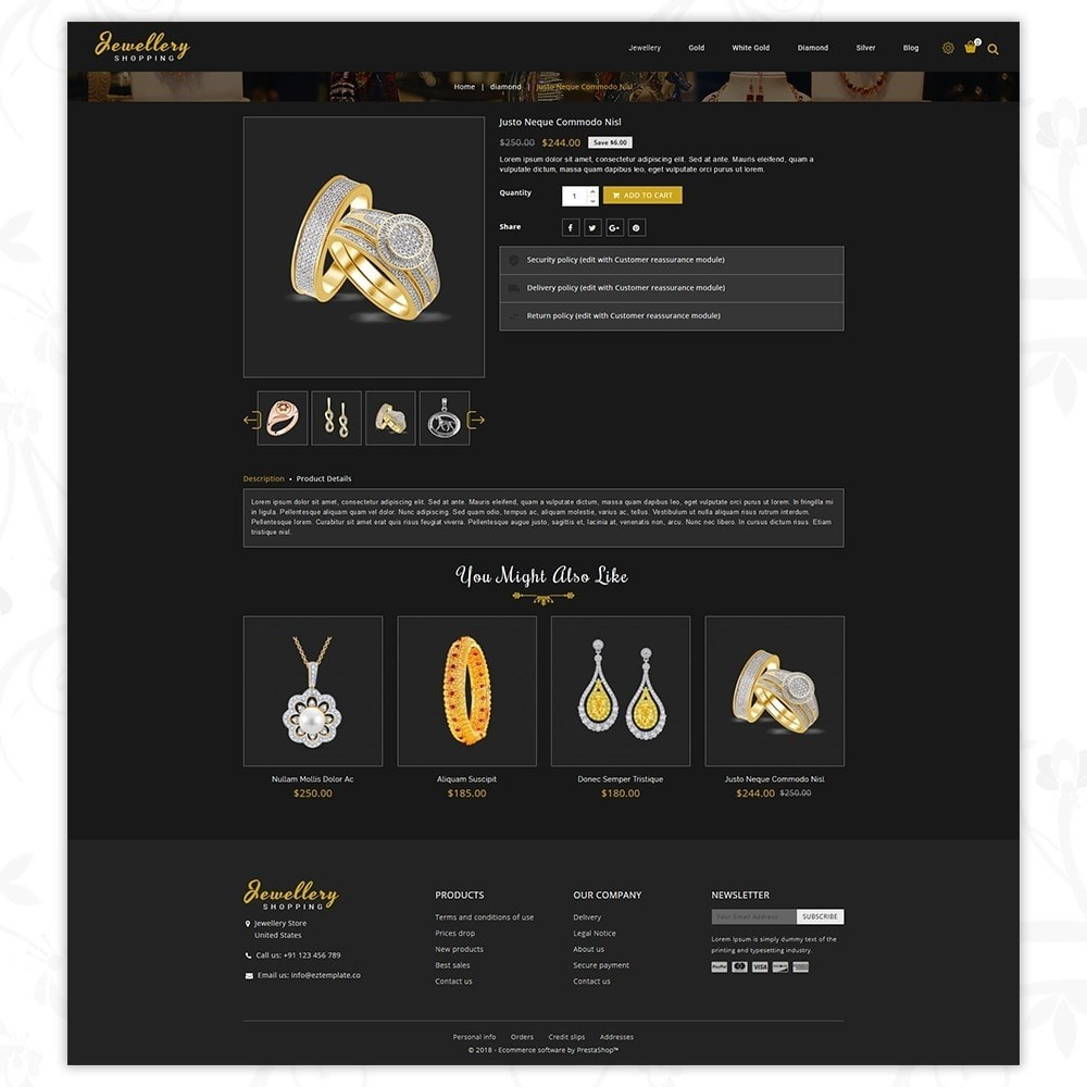 theme - Schmuck & Accesoires - Jewellery Shopping Store - 5