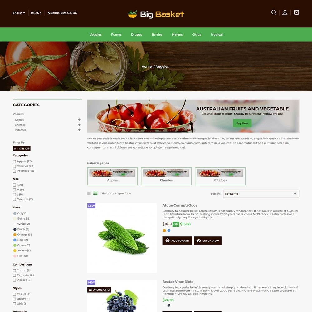 theme - Food & Restaurant - Bigbasket - Food Online Store - 4