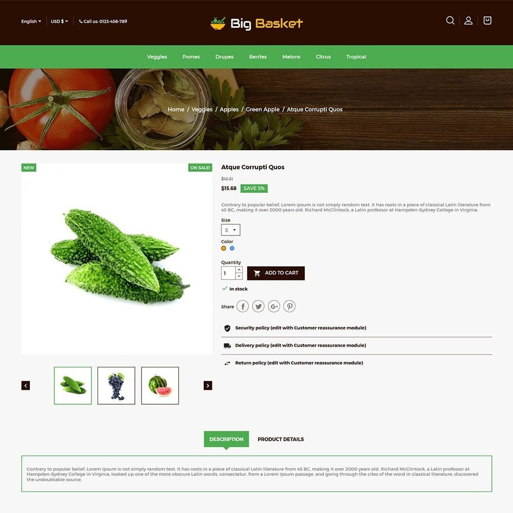 theme - Food & Restaurant - Bigbasket - Food Online Store - 5