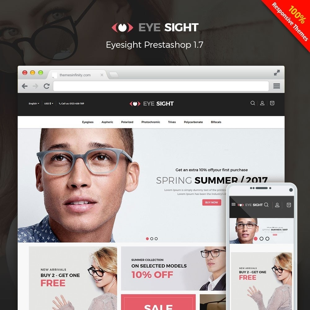 theme - Moda y Calzado - Eyesight - Glasses Online Store - 1