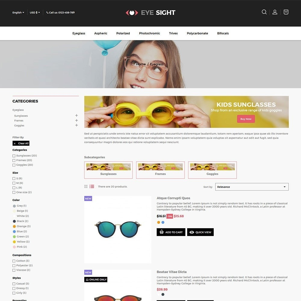 theme - Moda y Calzado - Eyesight - Glasses Online Store - 4