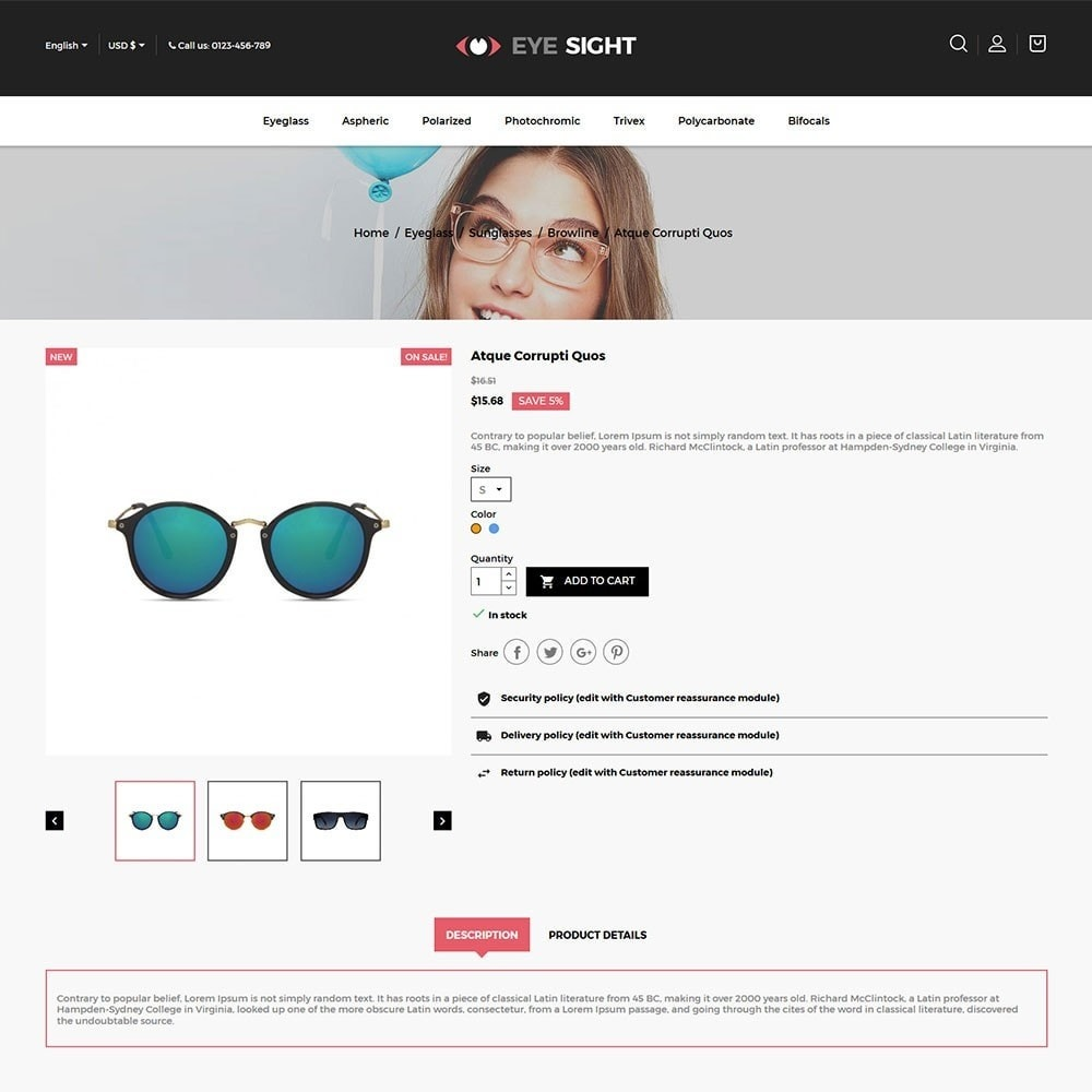 theme - Moda y Calzado - Eyesight - Glasses Online Store - 5