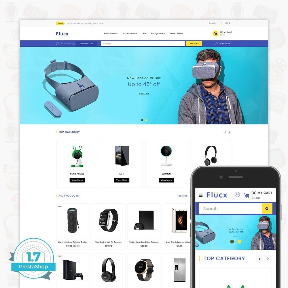 theme - Elektronik & High Tech - Flucx -  The Mega Store - 1