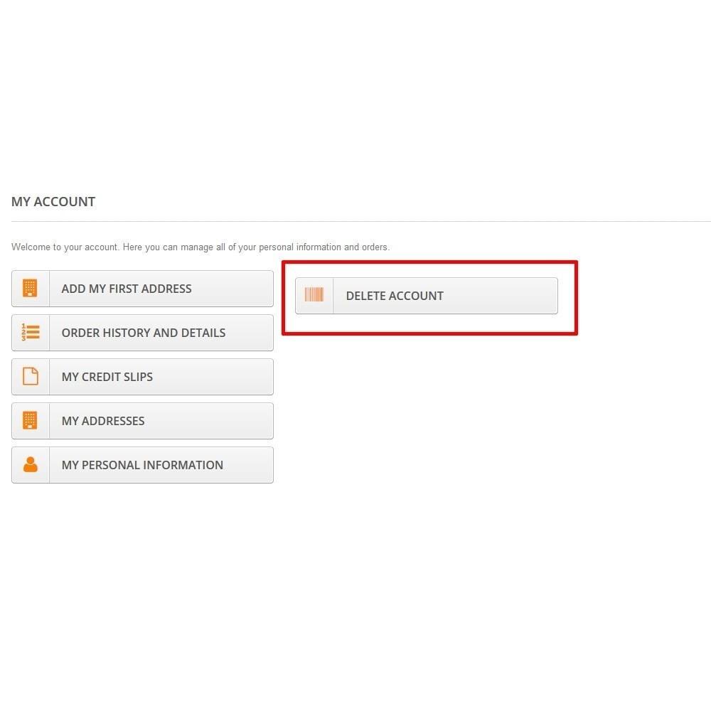 module - Wzmianki prawne - Samodzielne usunięcie konta klienta (wymagania RODO) - 3
