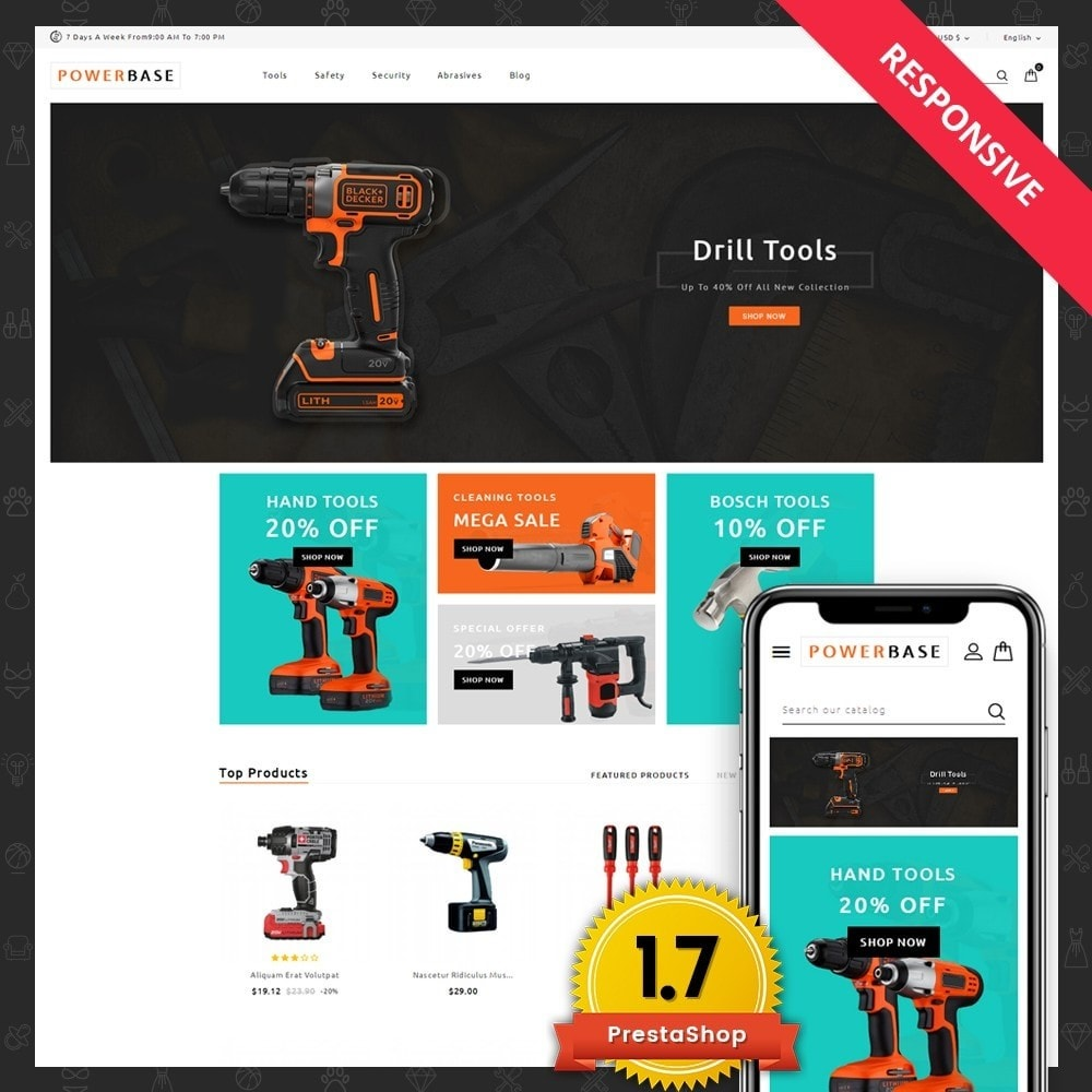 theme - Coches y Motos - Powerbase Tool Store - 1