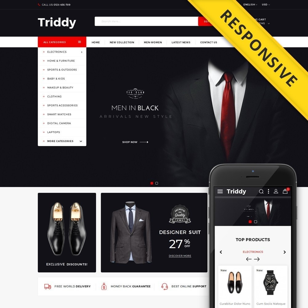 theme - Mode & Schuhe - Triddy - Multipurpose Store - 1