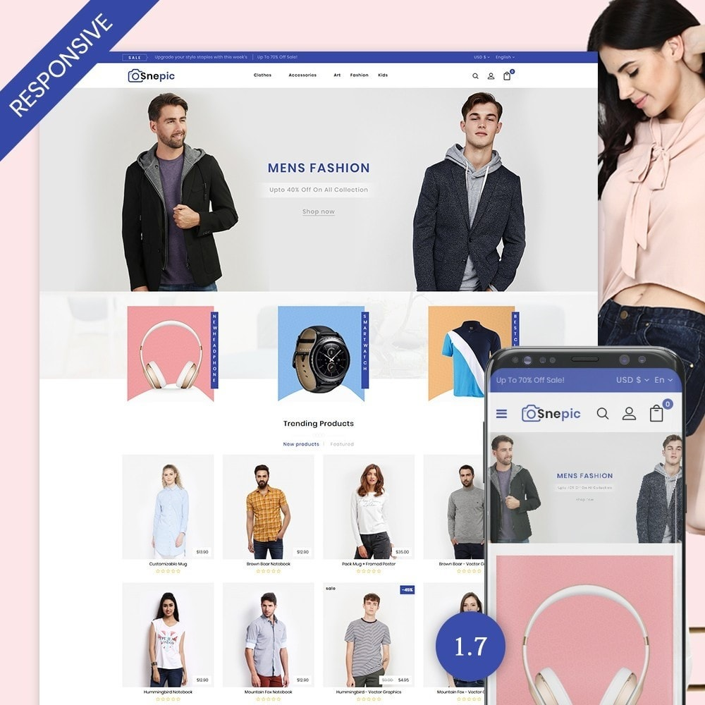 theme - Fashion & Shoes - Snepic - Fashion Store - 1