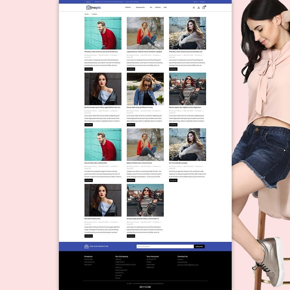 theme - Fashion & Shoes - Snepic - Fashion Store - 3