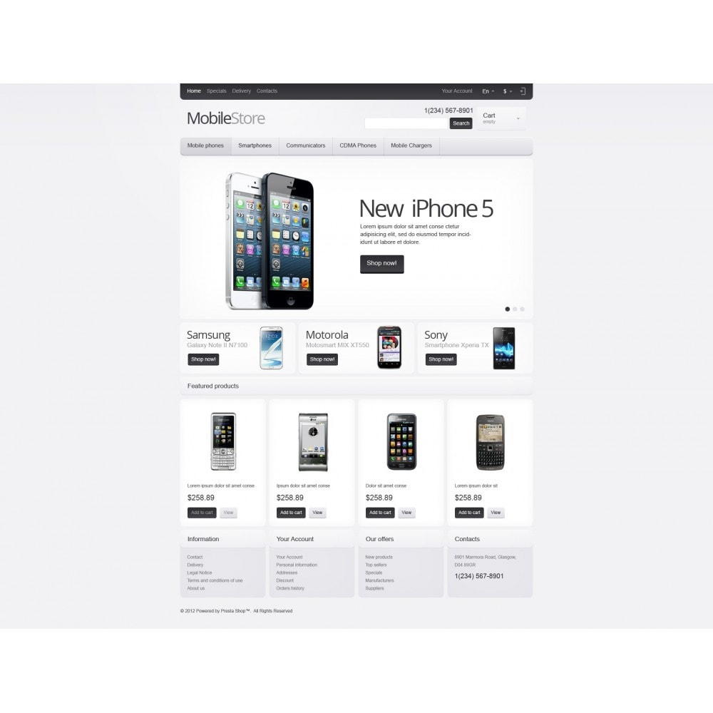 theme - Electronics & Computers - Responsive Mobile Store - 4