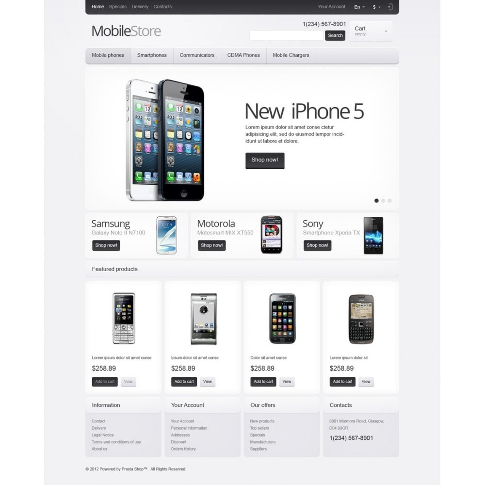 theme - Electronics & Computers - Responsive Mobile Store - 5