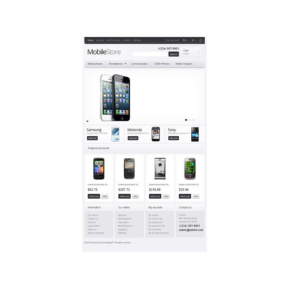 theme - Electronics & Computers - Responsive Mobile Store - 8
