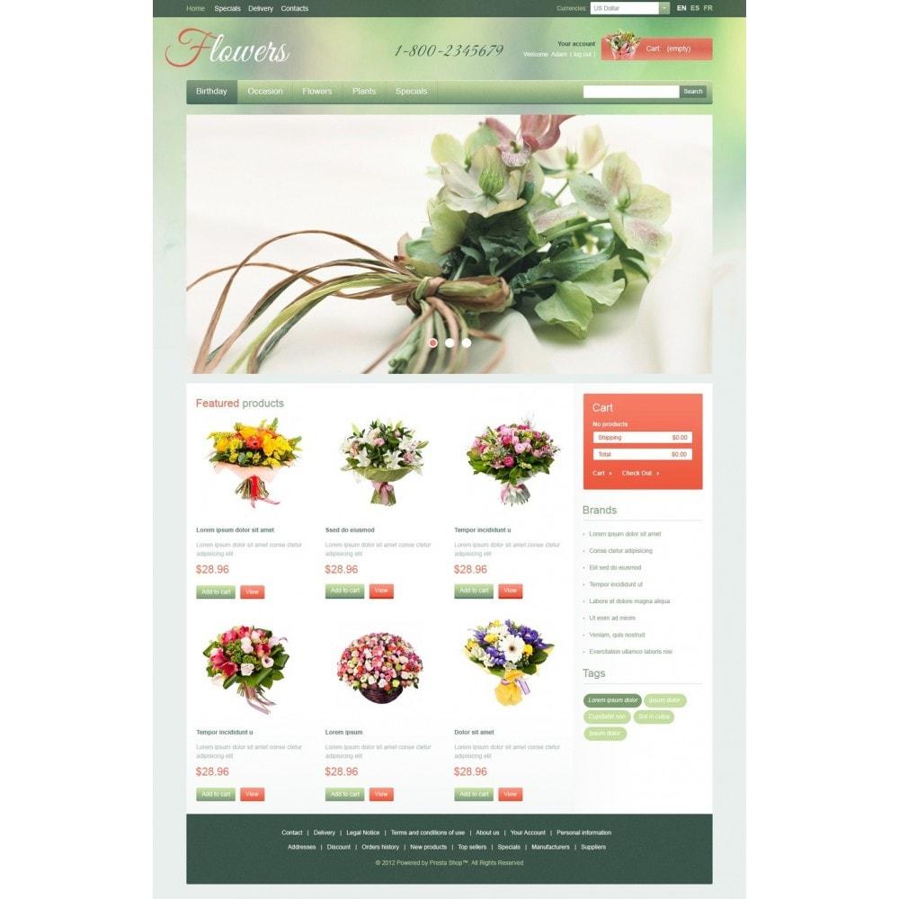 theme - Cadeaux, Fleurs et Fêtes - Garden Flowers - 5