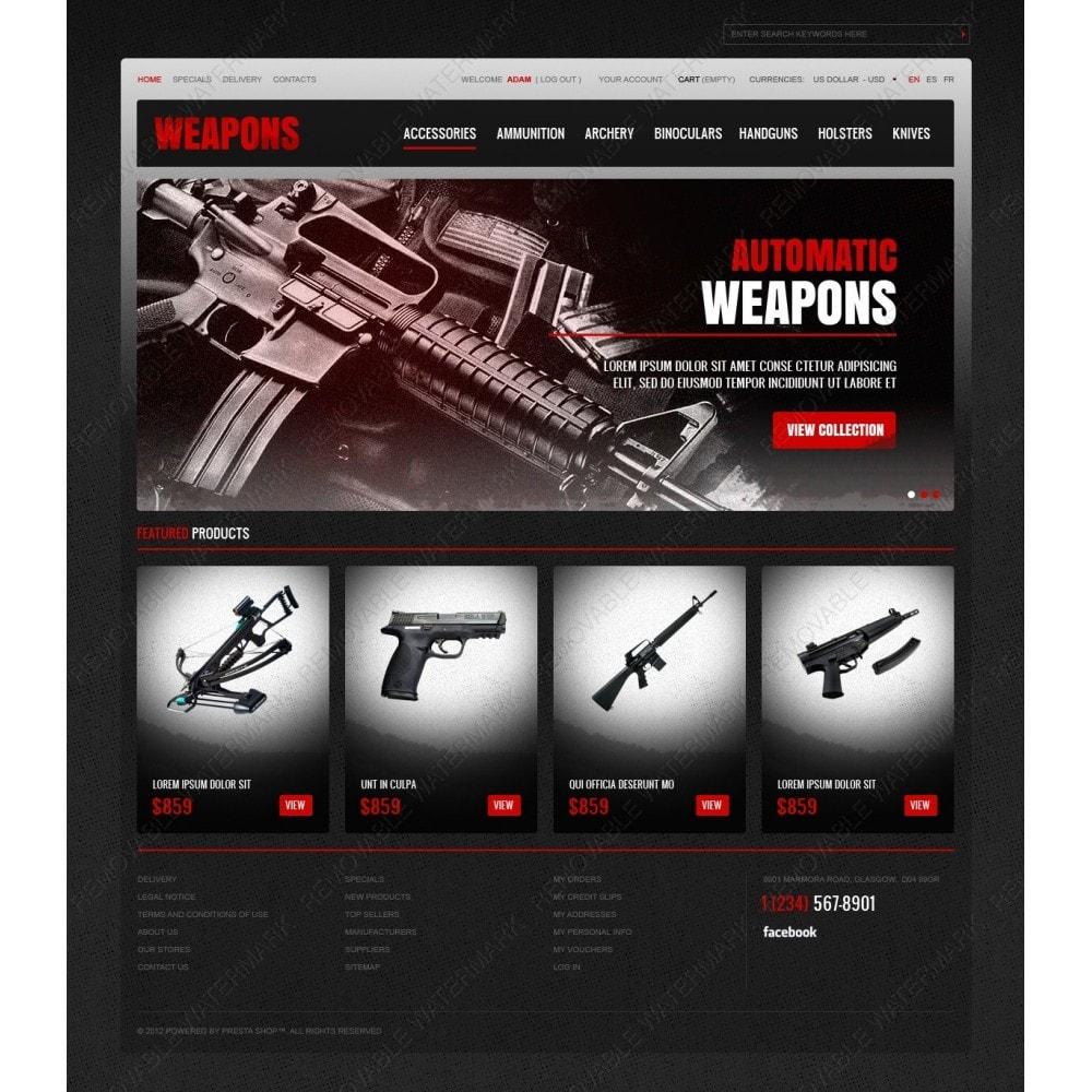 theme - Thèmes PrestaShop - Weapons Store - 2
