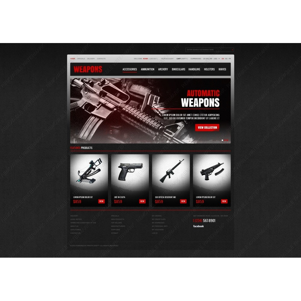 theme - Thèmes PrestaShop - Weapons Store - 7