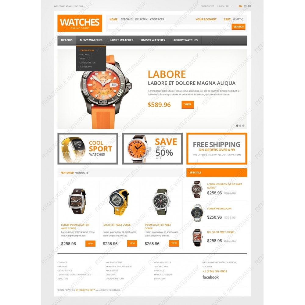 theme - Mode & Chaussures - Watch Store - 2