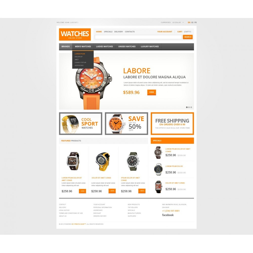 theme - Mode & Chaussures - Watch Store - 3