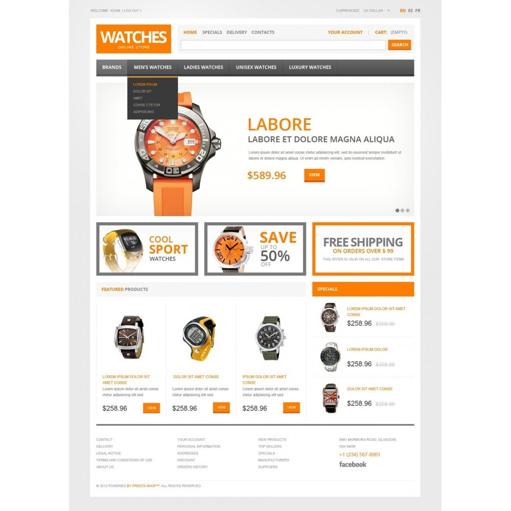 theme - Mode & Chaussures - Watch Store - 5