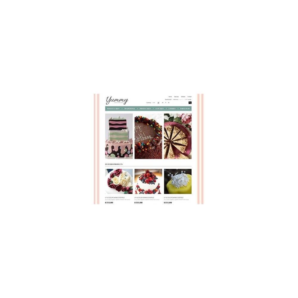 theme - Продовольствие и рестораны - Yummy Cakes - 4