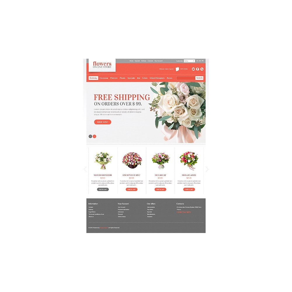 theme - Gifts, Flowers & Celebrations - Flowers Online - 1