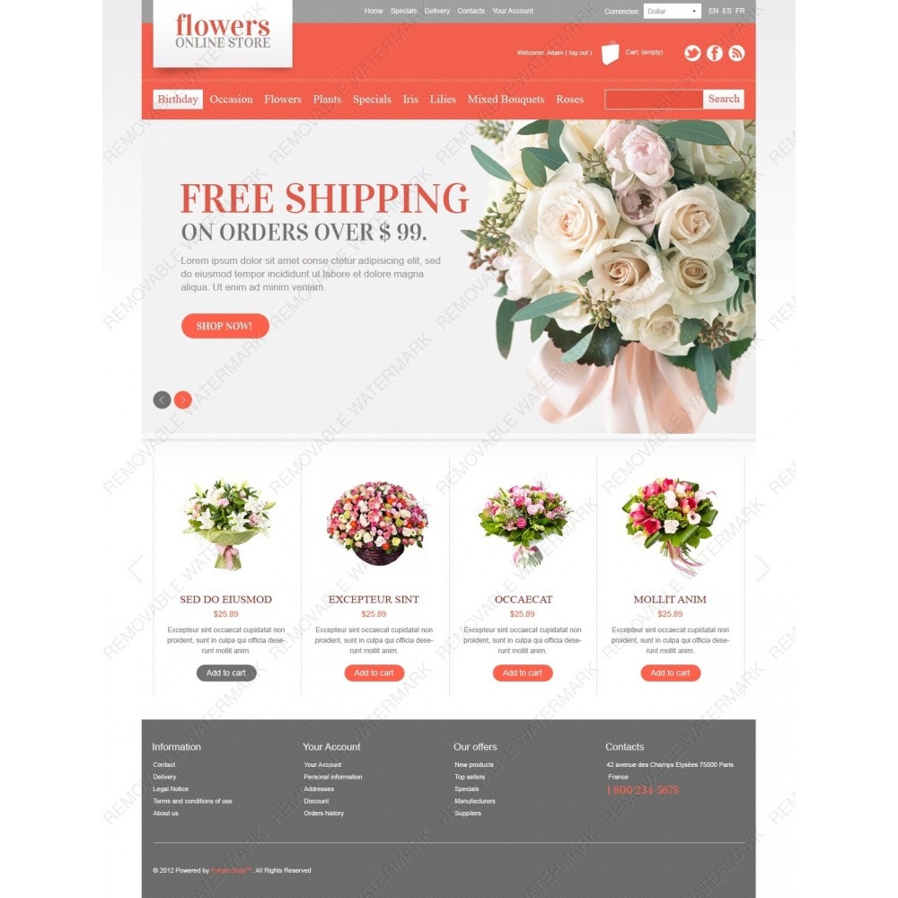 theme - Gifts, Flowers & Celebrations - Flowers Online - 2