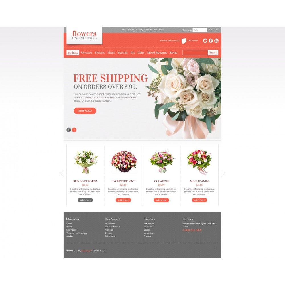 theme - Gifts, Flowers & Celebrations - Flowers Online - 3